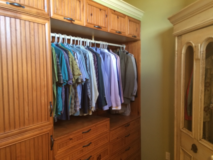 Extensive storage in Master Closet