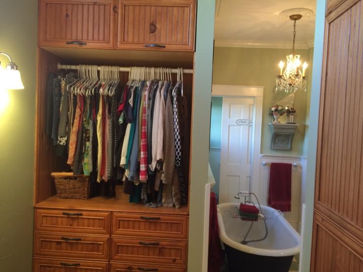 Inside Master Closet looking into Master Bathroom