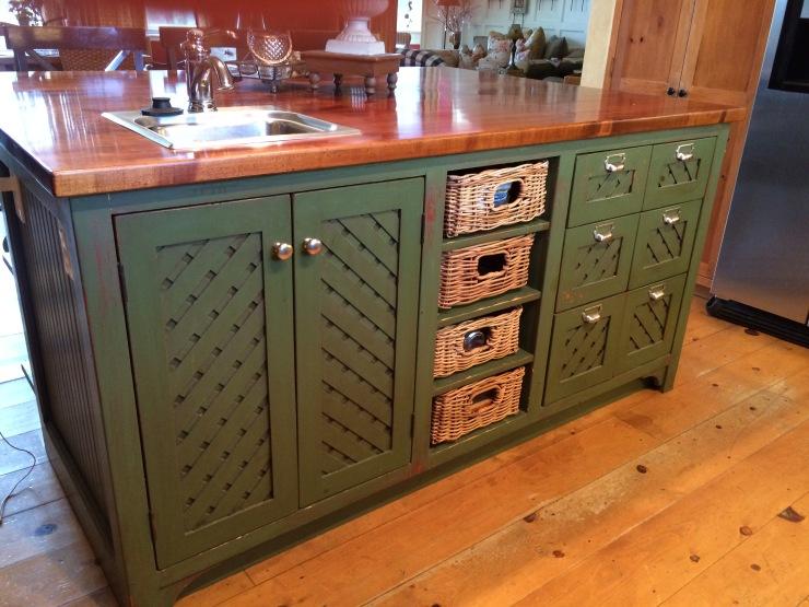 Kitchen features plenty of furniture like storage